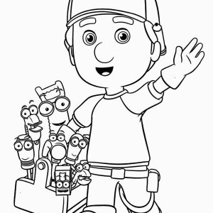 Greeting From Handy Manny And Friends Coloring Page