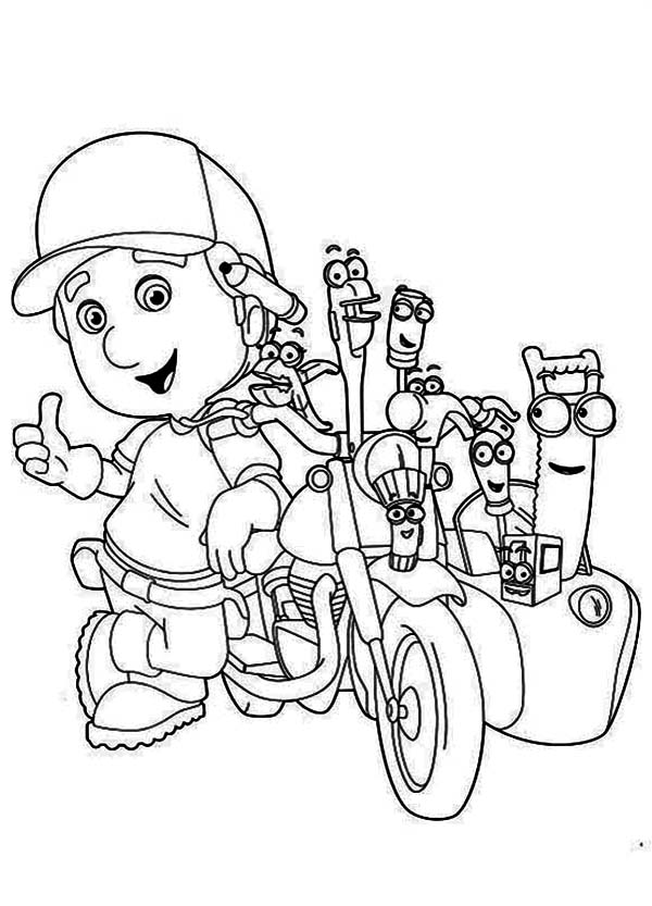 Handy Manny Coloring Page Download Print Online Coloring Pages