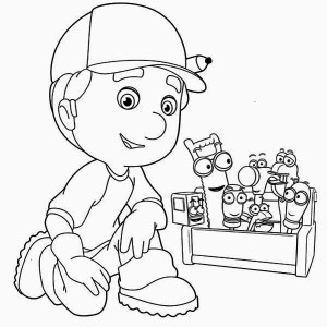 Handy Manny And Friends Begin To Work Coloring Page