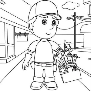 Handy Manny And Friends Coloring Page