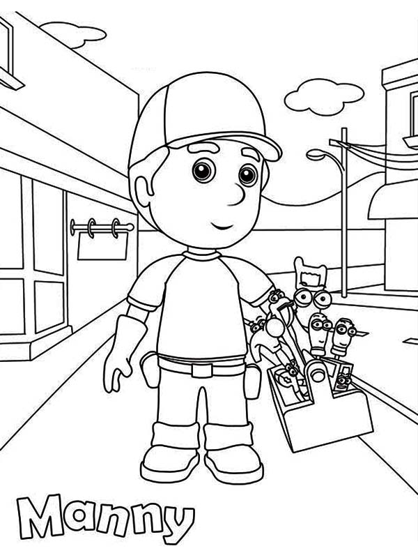 handy manny coloring pages e - photo#5