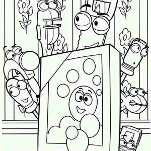 Handy Manny And Friends Making A Picture Frame Coloring Page