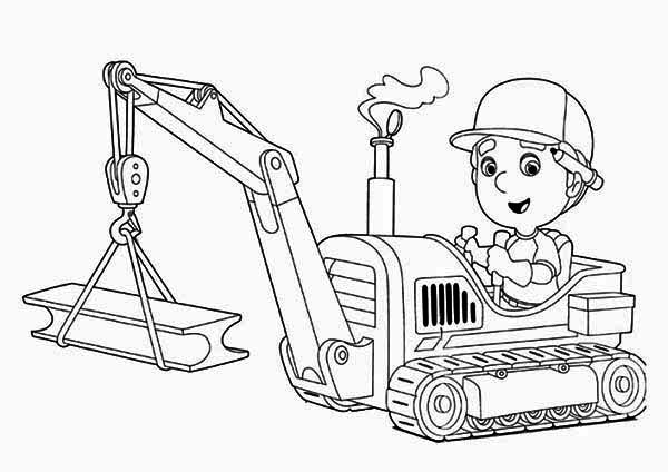 Handy Manny And Tractor Coloring Page Download Amp Print