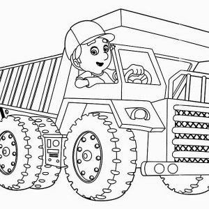 Handy Manny And Truck Coloring Page