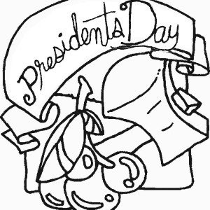 Happy Presidents Day For All US Citizens Coloring Page