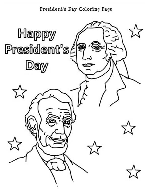 president day coloring pages Happy Presidents Day With Lincoln And Washington Coloring Page  president day coloring pages