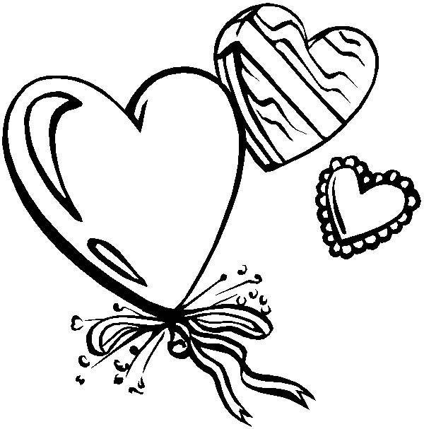 Simple Heart Shape coloring page   Free Printable Coloring Pages   607x600