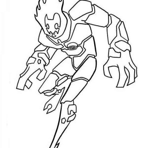 Heatblast, One Of The Earliest Alien Form In Ben 10 Coloring Page