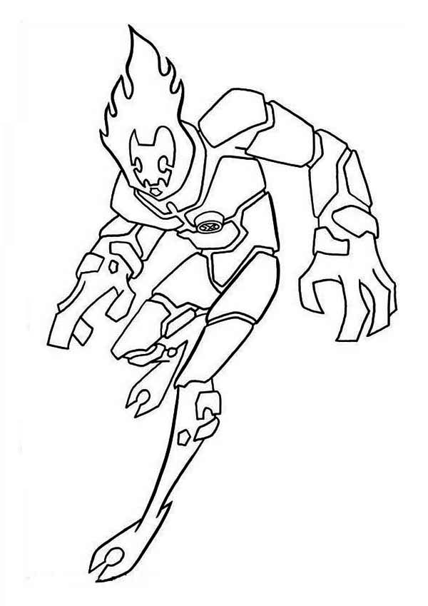 - Heatblast, One Of The Earliest Alien Form In Ben 10 Coloring Page -  Download & Print Online Coloring Pages For Free Color Nimbus