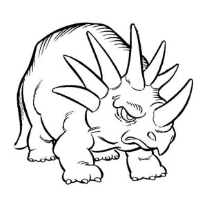 Land Before Time Family Angry Little Triceratops Coloring Page