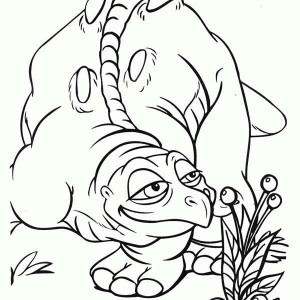 Land Before Time Family Cera Father Smelling Fruit Coloring Page
