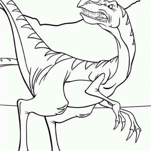 Land Before Time Family Dinosaurus Looking Back Coloring Page