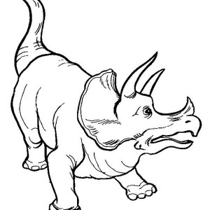 Land Before Time Family Triceratops Is Afraid Coloring Page
