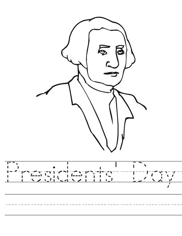 Learn To Write Presidents Day Coloring Page - Download ...