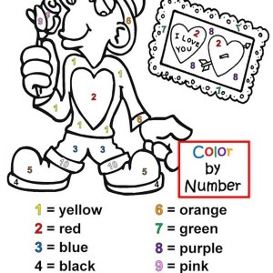 Lets Have Fun With Colors On Valentine's Day Coloring Page