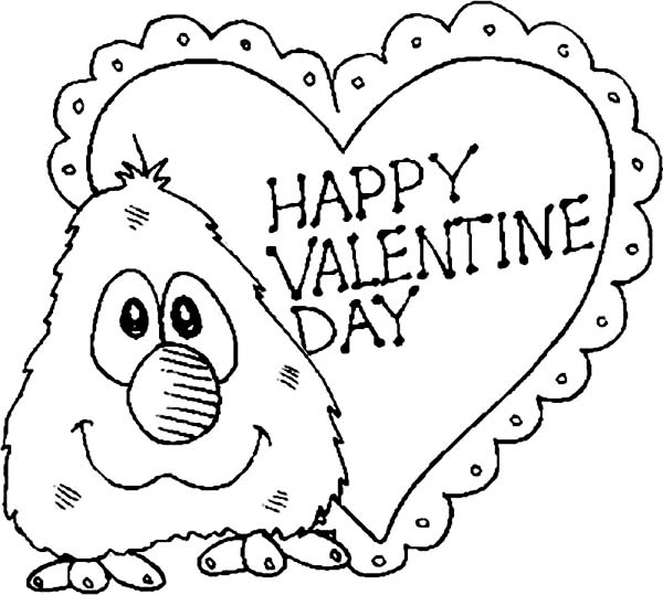 Little Elmo Say Happy Valentine S Day Folks Coloring Page Download