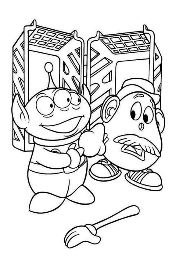 Little Green Men And Mr Potato Head In Toy Story Coloring Page Download Print Online Coloring Pages For Free Color Nimbus