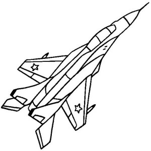 MIG 29 Russian Fighter Coloring Page