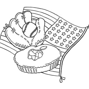 Major League Baseball Coloring Page