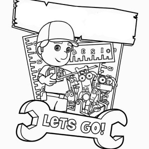 Manny Garcia And Friends Poster Handy Manny Coloring Page