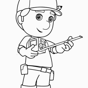 Manny And Stretch Handy Manny Coloring Page
