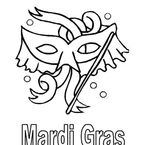 Mardi Gras Celebration After The Epiphany Coloring Page