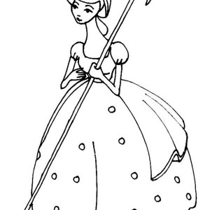 Meet Bo Peep In Toy Story Coloring Page
