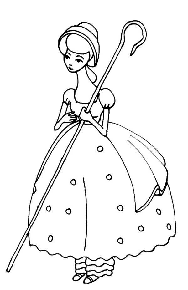 Meet Bo Peep In Toy Story Coloring Page - Download & Print ...