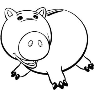 Meet Hamm The Pig In Toy Story Coloring Page