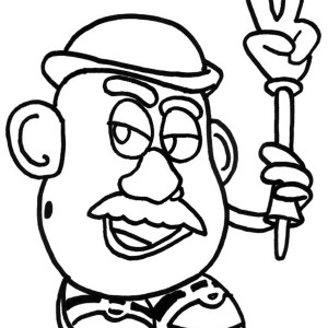Meet Mr Potato Head In Toy Story Coloring Page