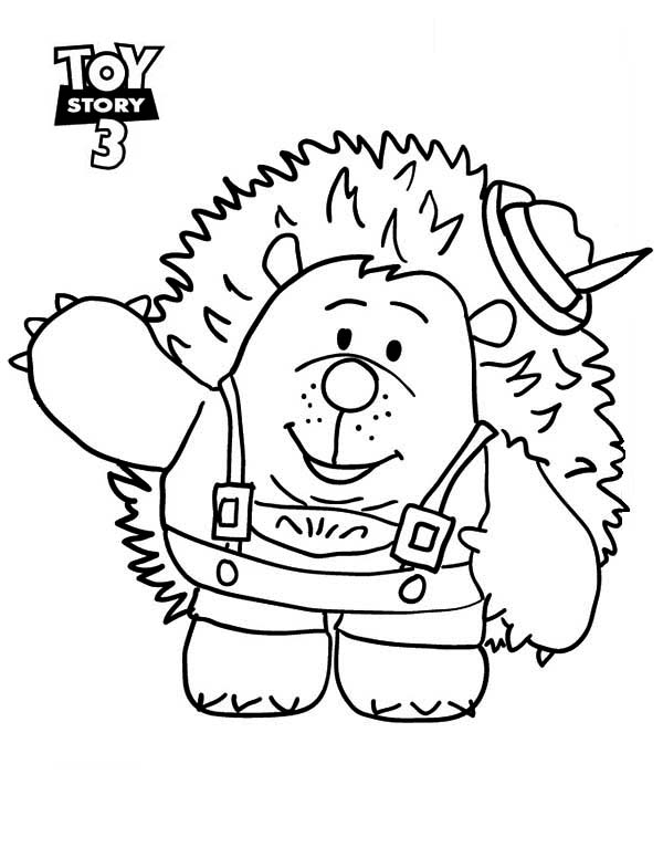 toy story 3 coloring pages Meet Mr Pricklepants In Toy Story 3 Coloring Page   Download  toy story 3 coloring pages