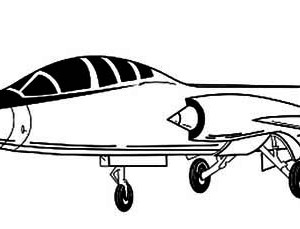 Military Airplane Coloring Pages