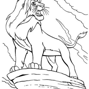 Mufasa Roar The Lion King Coloring Page