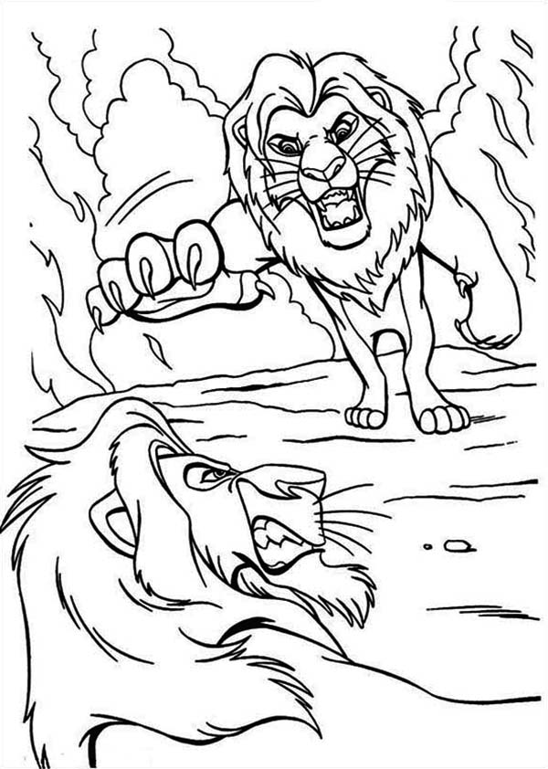 Lion King Coloring Pages Mufasa Scar