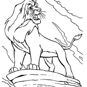 Mufasa Is Angry The Lion King Coloring Page