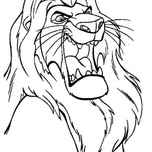Mufasa The Great The Lion King Coloring Page