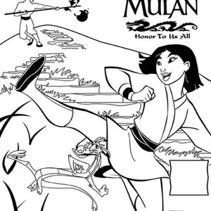 Mulan Movie Poster, Honor To Us All Coloring Page