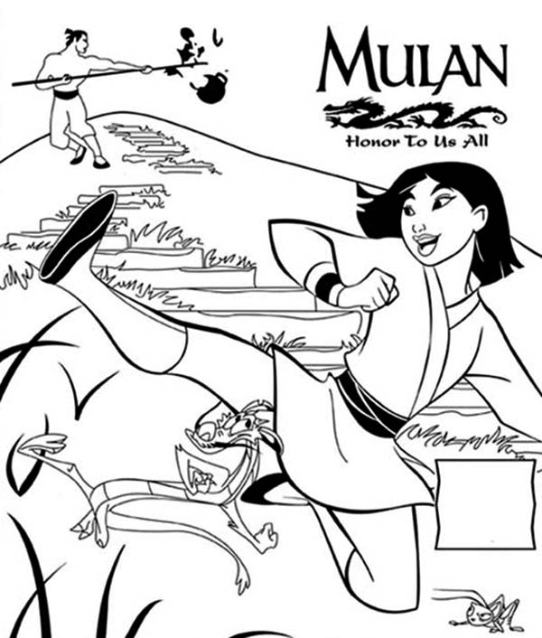 Mulan Movie Poster, Honor To Us All Coloring Page ...