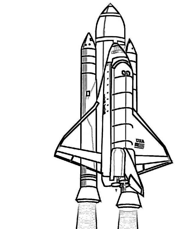 nasa discovery space shuttle coloring page  download