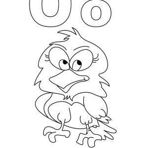 O For Owl Coloring Book For Kids Coloring Page