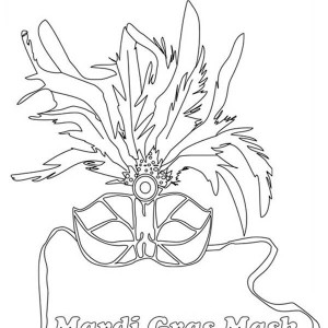 Ornamentic Mardi Gras Mask Ideas Coloring Page