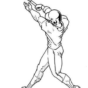 Posing Baseball Hit Coloring Page