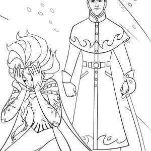 Powerless Elsa With The Duke Of Weseltons Thugs Coloring Page
