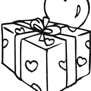 Preparing A Valentine's Day Gifts For Girfriend Coloring Page