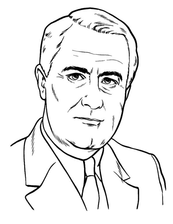 President Lbj On Presidents Day Coloring Page Download Print