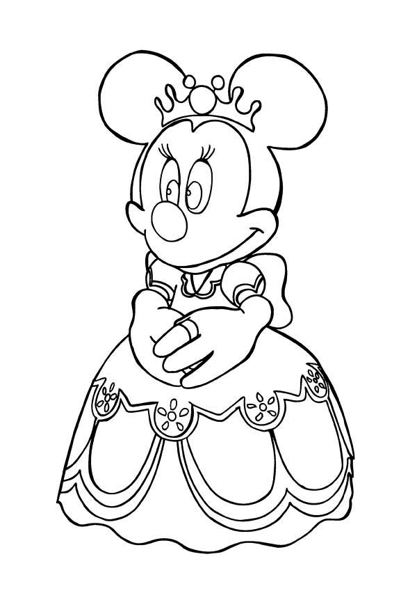 Princess Minnie Mouse Coloring