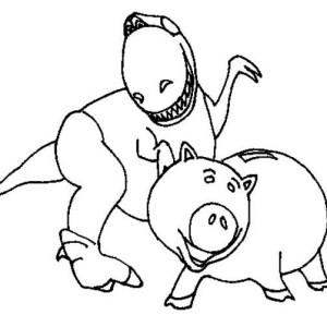 Rex And Hamm In Toy Story Coloring Page