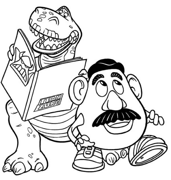 rex and mr potato head in toy story coloring page download print online coloring pages for free color nimbus rex and mr potato head in toy story
