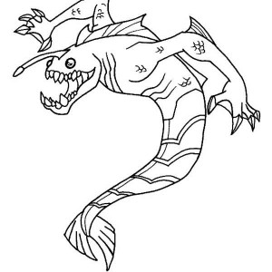 Ripjaws From Ben 10 Omniverse Coloring Page