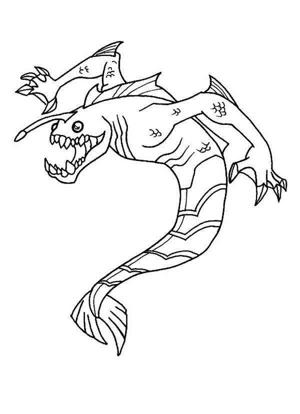 Ripjaws From Ben 10 Omniverse Coloring Page Download Print - Ben-10-omniverse-coloring-pages
